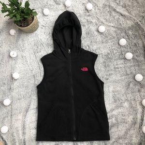 Girls The North Face Black Short Fleece Vest